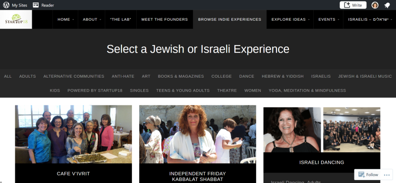 Browse a Jewish or Israeli Experience